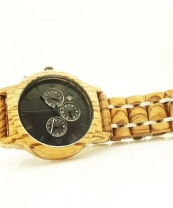 Black Magic Organic Tigerwood chronograph dress watch Black face3