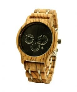 Black Magic Organic Tigerwood chronograph watch Black face4